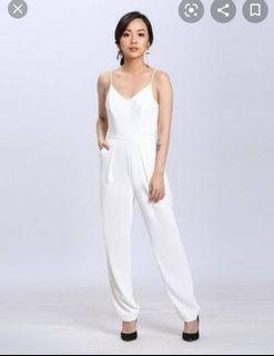 Wearstatuquo White Jumpsuit