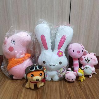 ♥️可換♥️佩佩豬玩偶 娃娃 布偶 兔子 卡娜赫拉 貓咪 長頸鹿