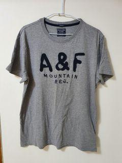 今日下單100 A&F 短袖上衣 灰色