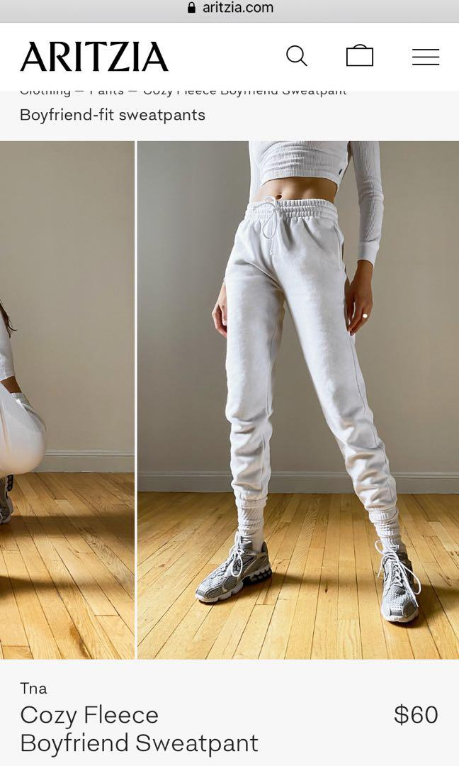 #Aritzia #TNA BF sweatpants, white, M