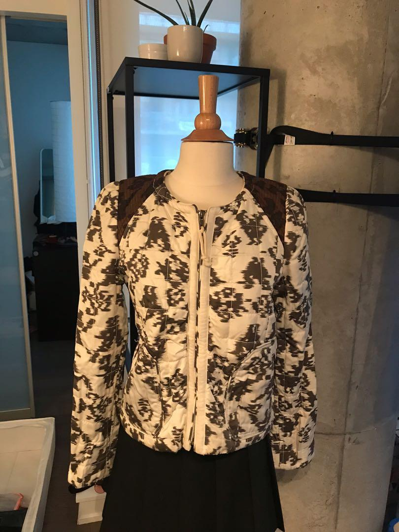 #Aritzia #Wilfred quilted jacket, mixed prints, size 6