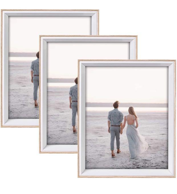 Brand new 8x10 Picture Frame with High Definition Glass,3 Pack Wood Textured Photo Frames