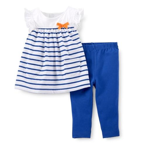 Carter's Summertime Sweetie 2-Pc Tunic & Legging Set (Size 9 months)