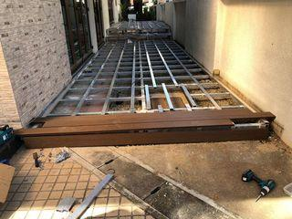 Decking installation works, timber and composite decking installation, please call or WhatsApp to +65 90964371