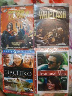 Dvd american ultra, whiplash, hachiko, irrational man