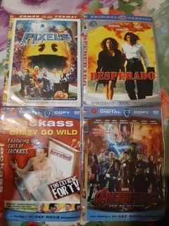 Dvd avengers 2, desperado, pixels, jackass