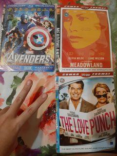 Dvd avengers, meadowland, love punch