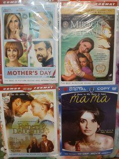 Dvd mothers day, miracles from heaven, fathers n daughters, mama