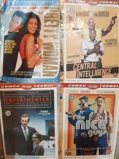 Dvd pretty woman, central intelligence,experimenter, the nice guys