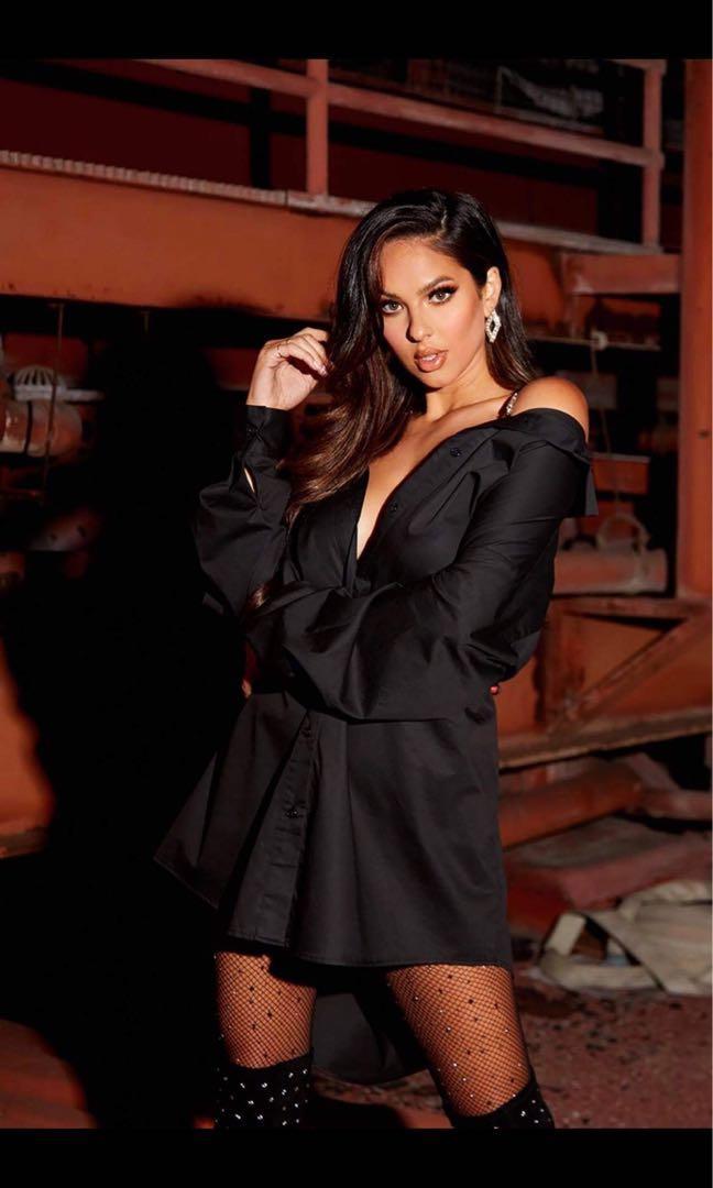 Fashion nova professional shine shirt dress