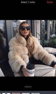 Gorg Camel fur coat