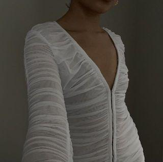 Lioness garter mini dress white