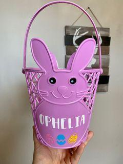 Personalized Easter baskets and bunnys