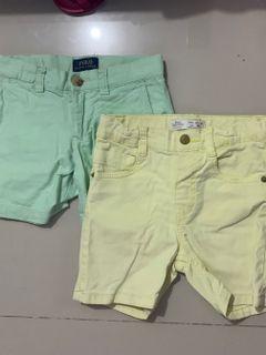RL and Zara shorts 2-3T