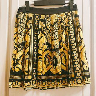Versace 凡賽斯 復刻系列 巴洛克短裙 百褶 42