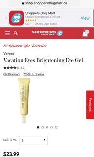 Versed Brightening Eye Gel - BNIB