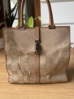 Vintage Gucci Jackie Tote bag in beige
