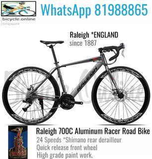 700C Aluminum Racer Road Bikes ✩ 24Speeds (Shimano rear derailleur) ✩ Brand New Bicycles (RALEIGH & PHOENIX *Pic2)
