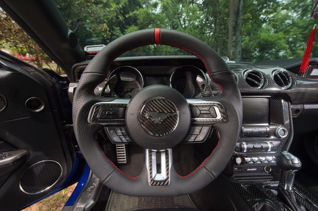 [細活方向盤] 福特 野馬 FORD Mustang 全皮紅環款 變形蟲方向盤 方向盤