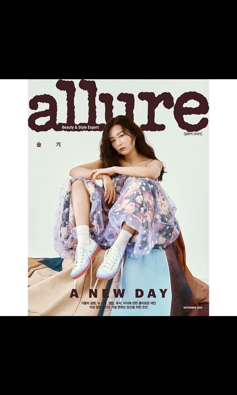 韓國雜誌  ALLURE KOREA 2020.9 封面 瑟琪SEUGIL(RED VELVET)