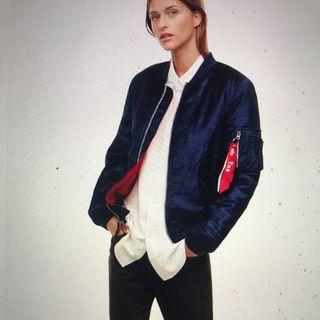 #Alpha-industry #Aritzia jacket, bomber, blue, Size S