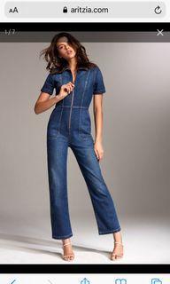 #Aritzia Denim Forum jumpsuit, Dark denim, Size M