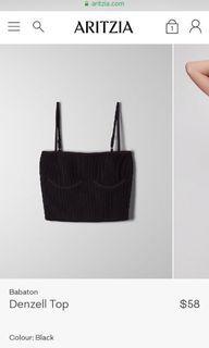 #Aritzia Denzel top, black, size S