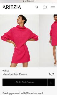#Aritzia Montpellier dress, pink, Size M