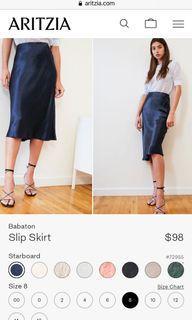 #Aritzia slip skirt, Blue, 8