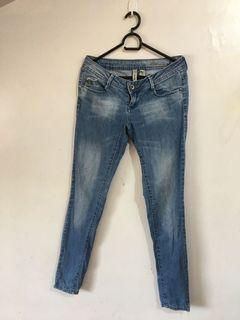 Authentic Mango Bianca Straight-Cut Semi Skinny Denim Jeans