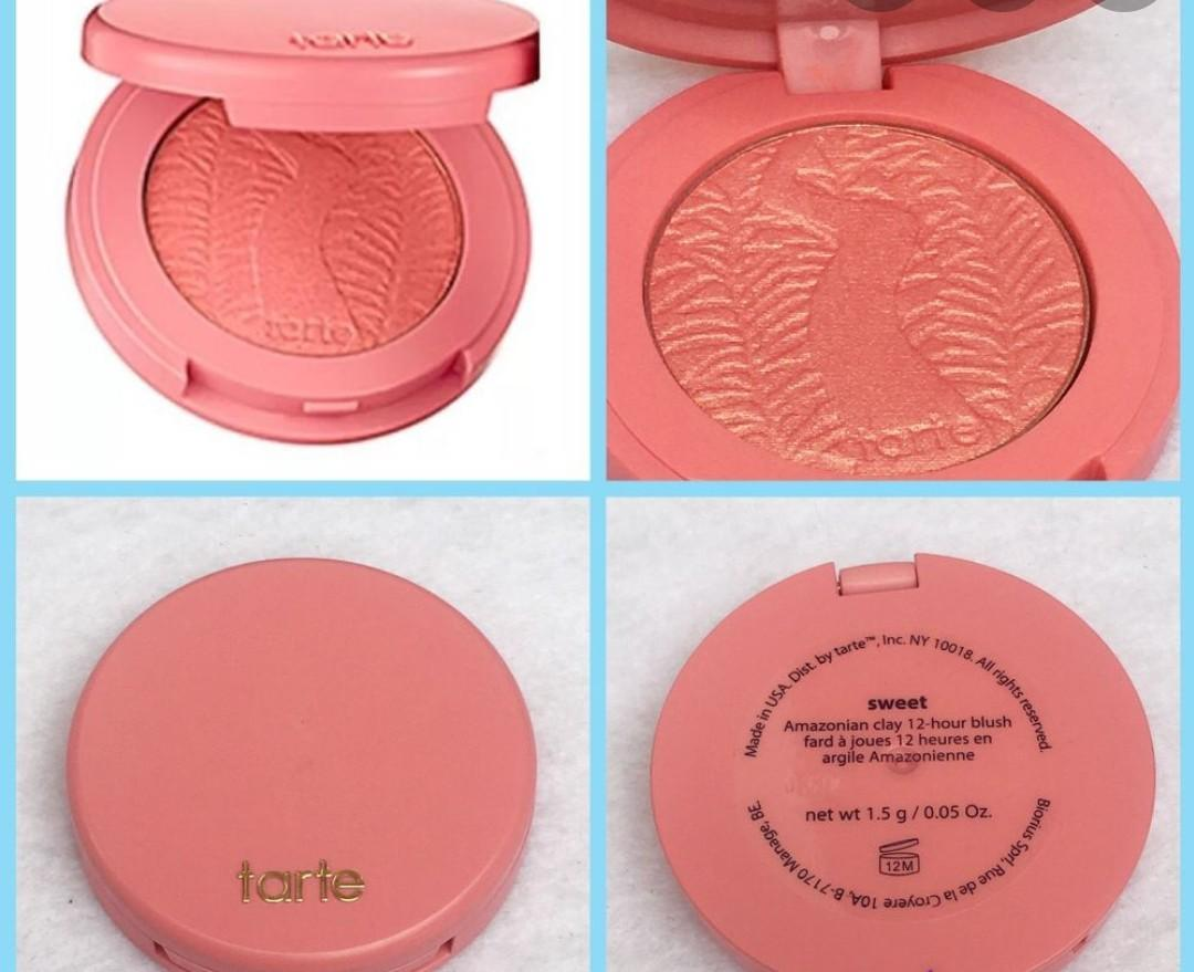 "Brand New Mini Tarte Amazonian Clay Palette Blush in ""Sweet"""