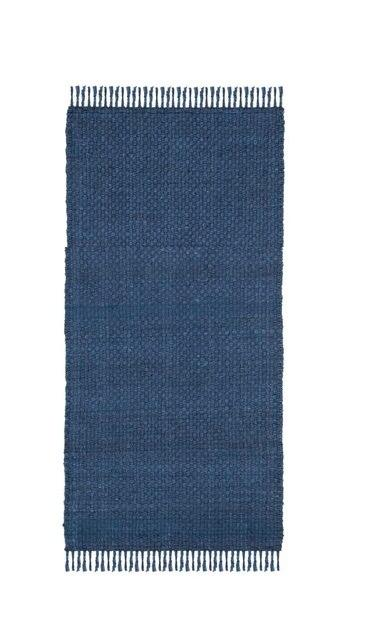 Chenille Indian Woven 100% Cotton Rug (Size 20'' x 32'')