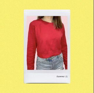 Forever 21 F21 Crop Sweater