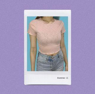 Forever 21 F21 Ribbed Crop Top