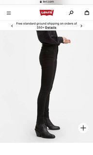#Levis Mile High super skinny, black, 28