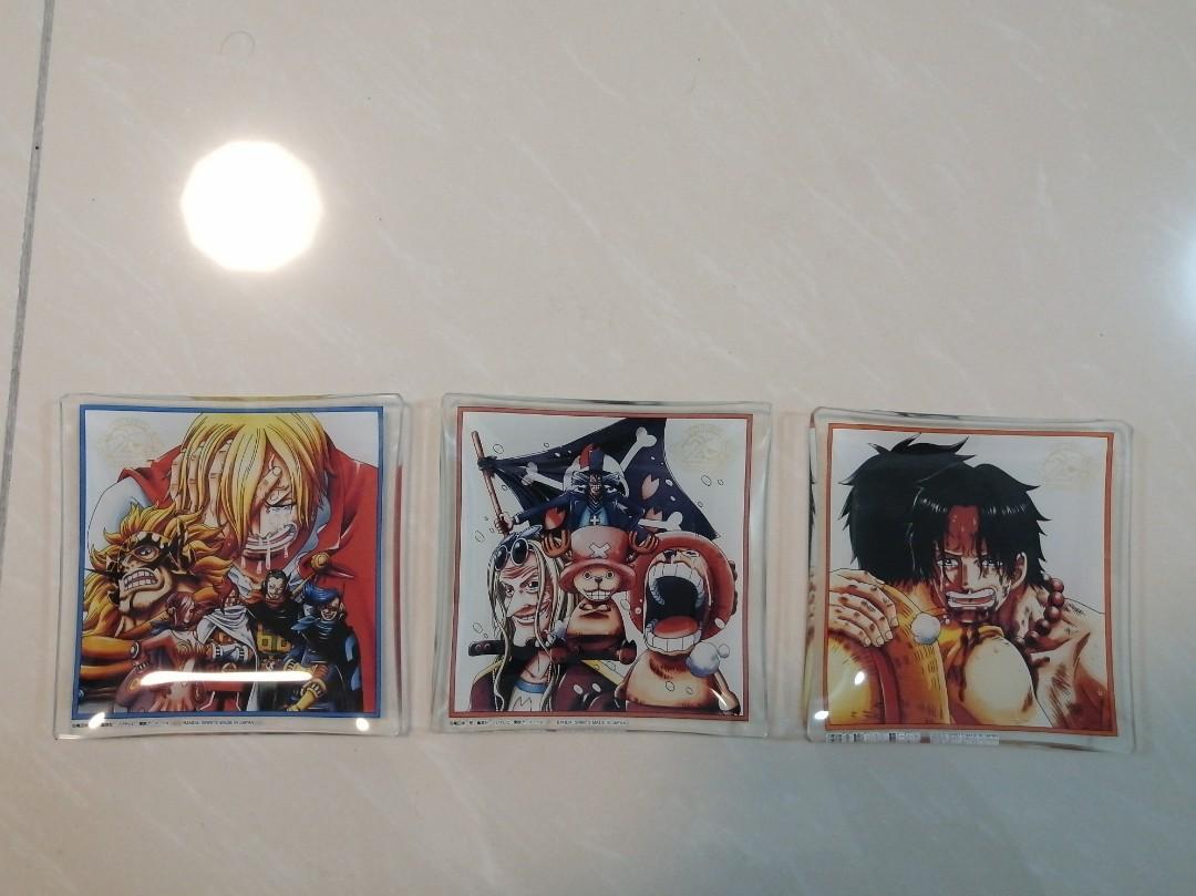One Piece Manga Anime Plate Coaster Combo