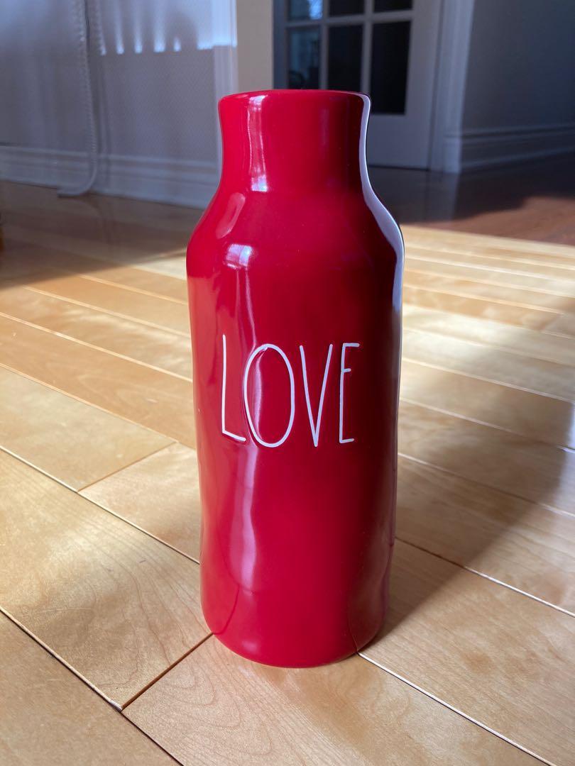 Rae Dunn Love red vase (New)