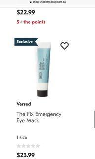 Versed Emergency Eye Mask