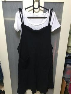 短版上衣+棉質吊帶裙