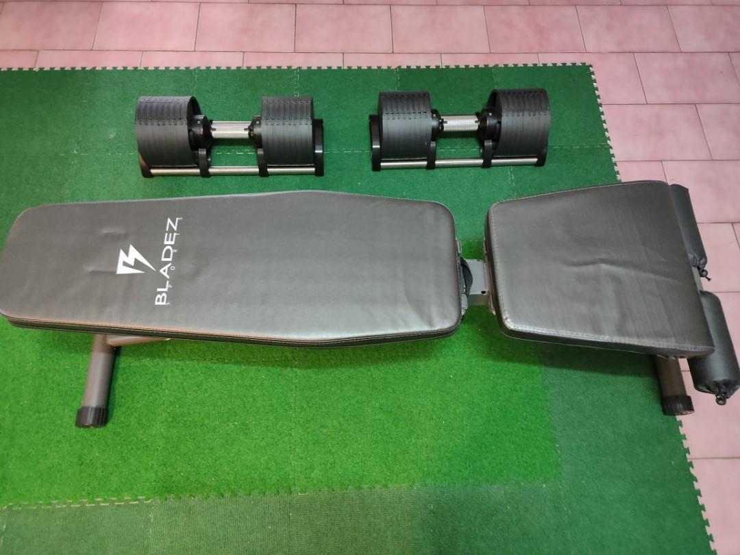 BLADEZ  AD32可調式啞鈴32kg(2入)+健身椅