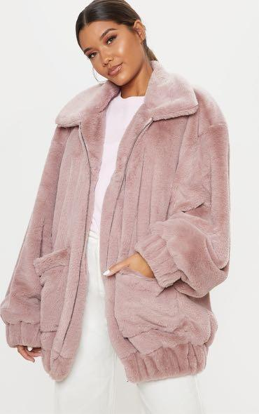 Brand new never been worn oversized faux fur jacket