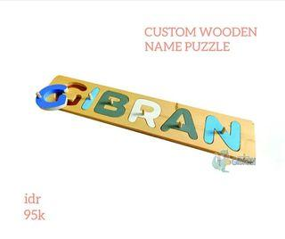 Custom Wooden Name Puzzle