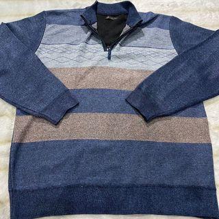 halfzip sweater rajut