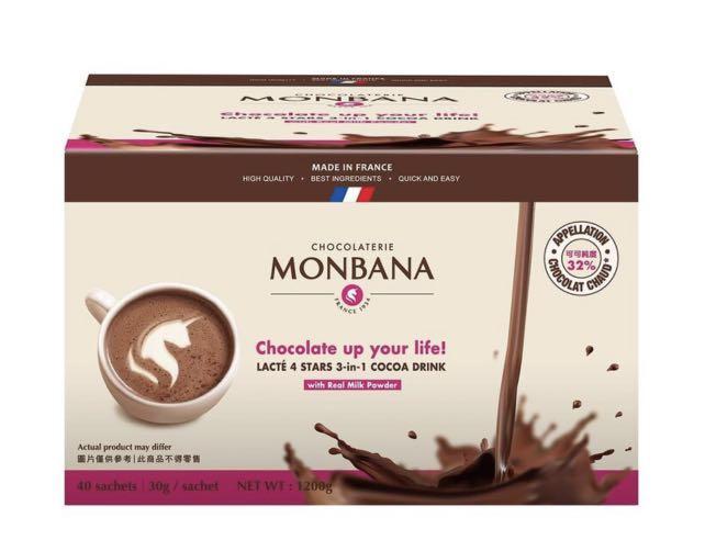 Monbana 三合一極品可可 30公克 五包一組
