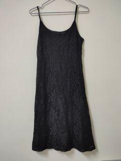 黑色蕾絲吊帶裙SM