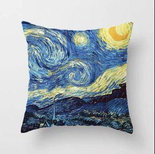 世界名畫Van Gogh starry night cushion cover梵高星夜咕𠱸套