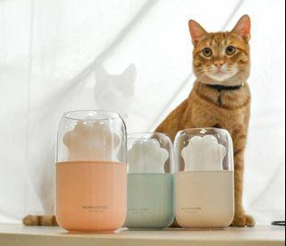 貓掌 香薰 夜燈 加濕 USB充電 精油香薰 靜音 噴霧 三合一 加濕機 【貓貓滋潤你整個秋冬】
