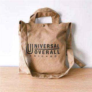 ♻️ Universal overall卡其側背帆布小包
