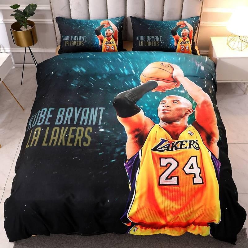 A 4 piece Nba/ cartoon character bedsheet