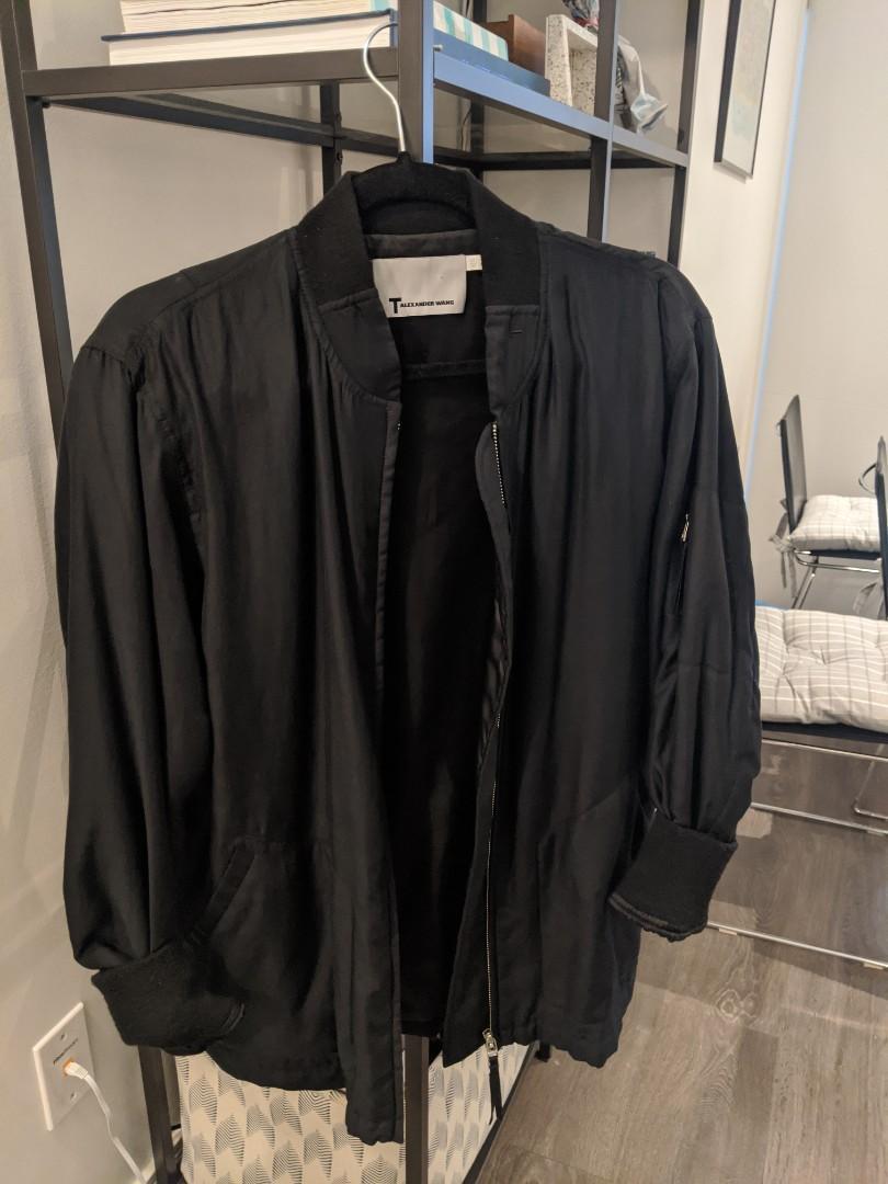 Alexander wang silk bomber jacket